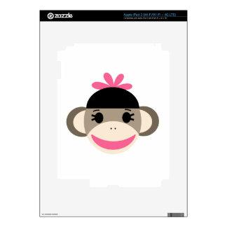 girl sock monkey decals for iPad 3