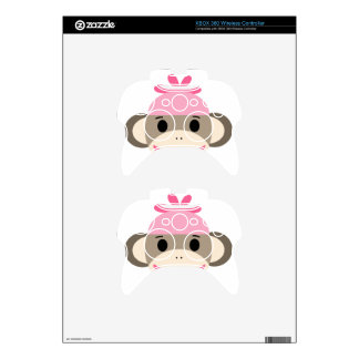 girl sock monkey xbox 360 controller decal