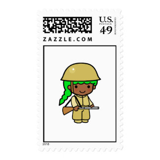 Girl Soldier 1 Stamp