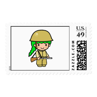 Girl Soldier 2 Postage