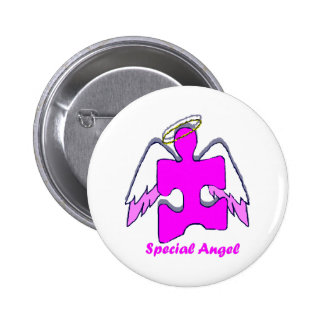 Girl Special Angel Button