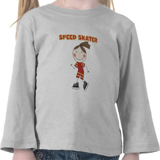 Girl Speed Skater Tshirts and Gifts
