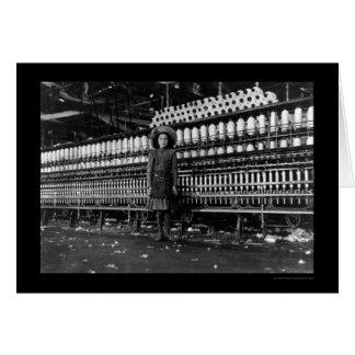 Girl Spinner in a Cotton Mill in Roanoke, VA 1911 Card