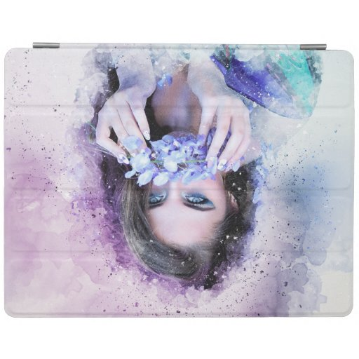 Girl Spring Flowers iPad Smart Cover