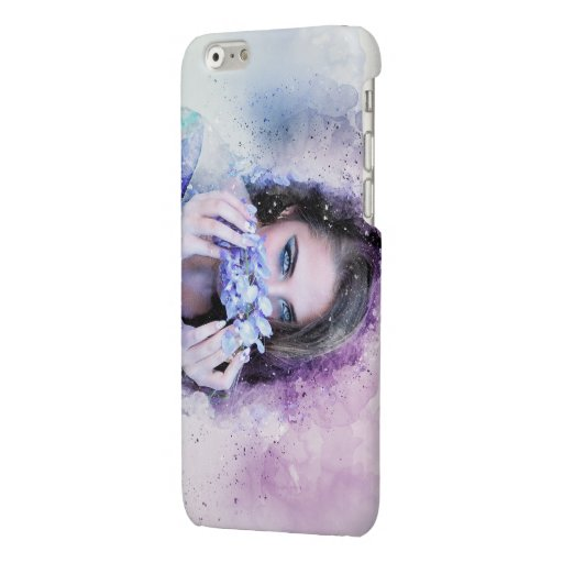Girl Spring Flowers Glossy iPhone 6 Case