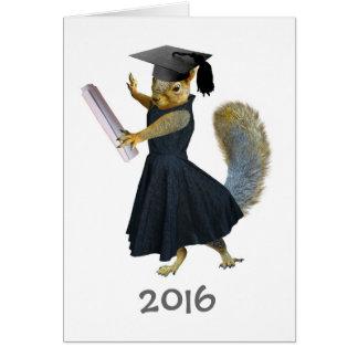 Girl Squirrel Graduation 2016 Card
