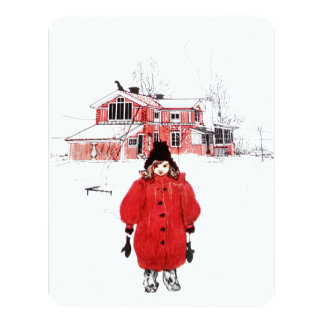 Girl Standing in the Snow Card