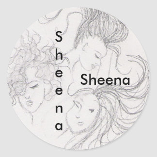 girl sticker for :  Sheena