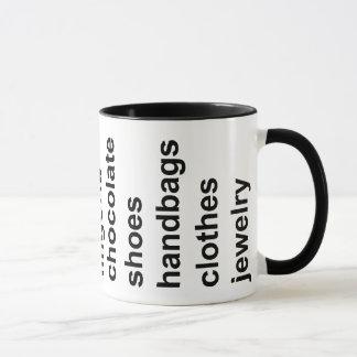 Girl Stuff Black Mug