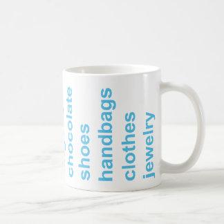 Girl Stuff Turquoise Coffee Mug