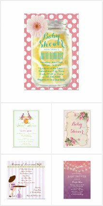 Girl Summer Baby Shower Invitations