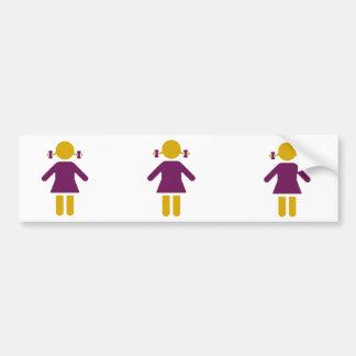 Girl - Super Girl Car Bumper Sticker