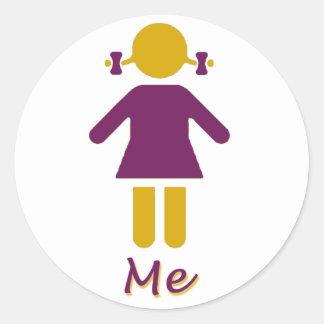 Girl - Super Girl Classic Round Sticker