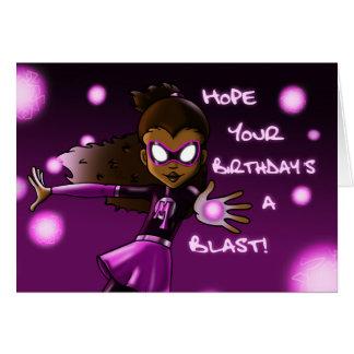 Girl Super Hero Birthday Card