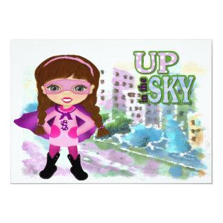 Girl Super Hero Invitation