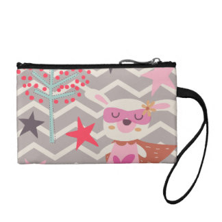 Girl Superhero Bunny Change Purse