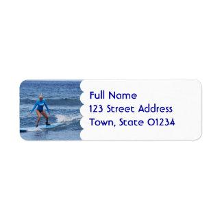 Girl Surfer  Address Mailing Labels