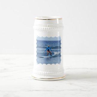 Girl Surfer Beer Stein Coffee Mug