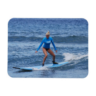 Girl Surfer Flexible Magnet Flexible Magnet