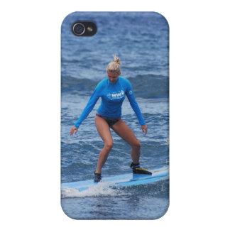 Girl Surfer iPhone 4 Case