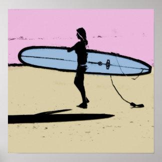 girl surfer.jCopyright Karen J Williams Poster