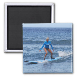 Girl Surfer Magnet Magnet