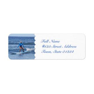 Girl Surfer Mailing Labels