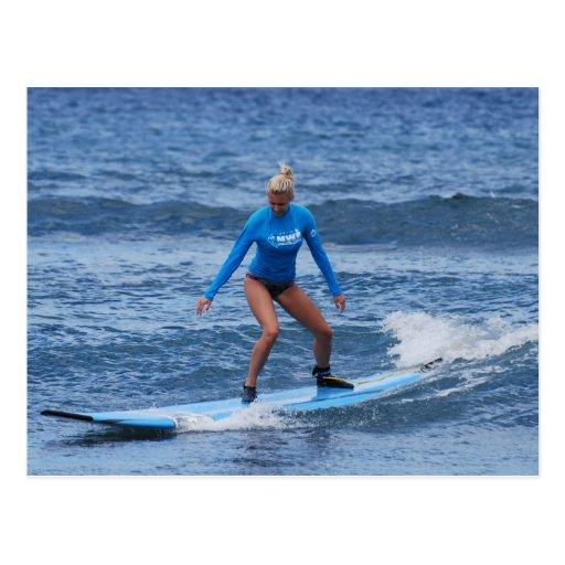 Girl Surfer Postcard