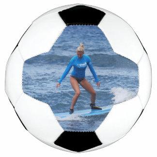 Girl Surfer Soccer Ball