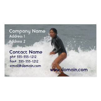 Girl Surfing Business Card