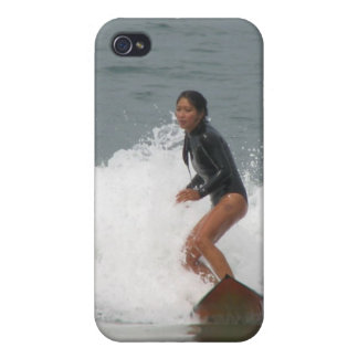 Girl Surfing iPhone 4 Case