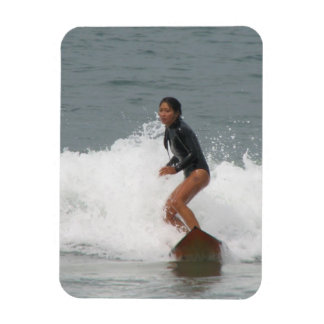 Girl Surfing Premium Magnet Rectangular Magnets
