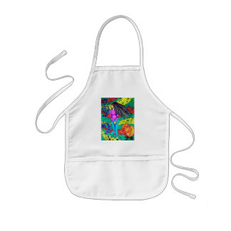 Girl Surrounded By Musical Notes Kids' Apron