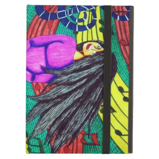 Girl Surrounded By Musical Notes iPad Air Case