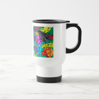 Girl Surrounded By Musical Notes Travel Mug