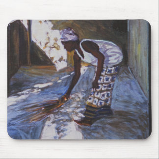 Girl Sweeping I 2002 Mouse Pad