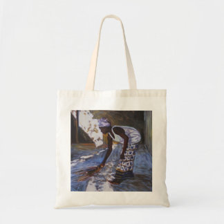 Girl Sweeping I 2002 Tote Bag