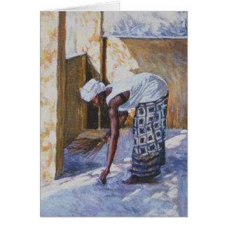 Girl Sweeping II 2002 Card