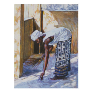 Girl Sweeping II 2002 Postcard