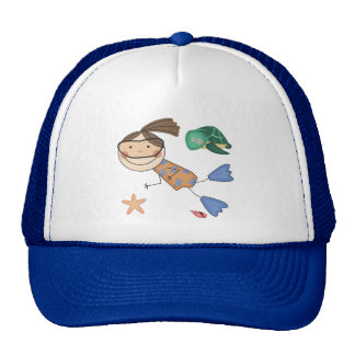 Girl Swimming T-shirts and Gifts Trucker Hat