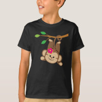 Girl Swinging Monkey T-Shirt
