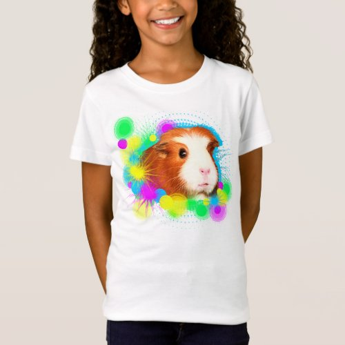 Girl T_shirt with guinea pigs