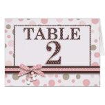 Girl Table Card 2