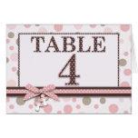 Girl Table Card 4