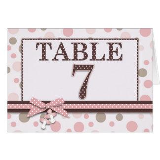 Girl Table Card 7