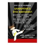 Girl Taekwondo Karate Yellow Belt Birthday Announcements
