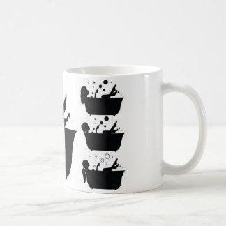 Girl taking bath design coffee mug