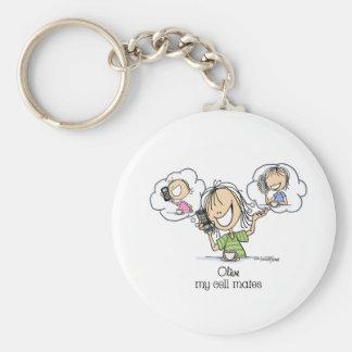 Girl Talk Basic Round Button Keychain