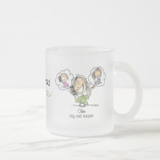 Girl Talk Frosted Glass Coffee Mug