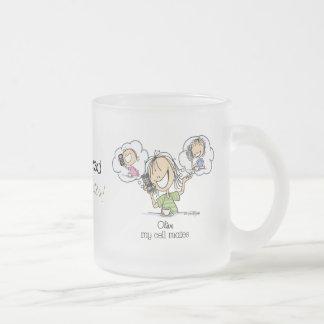 Girl Talk 10 Oz Frosted Glass Coffee Mug